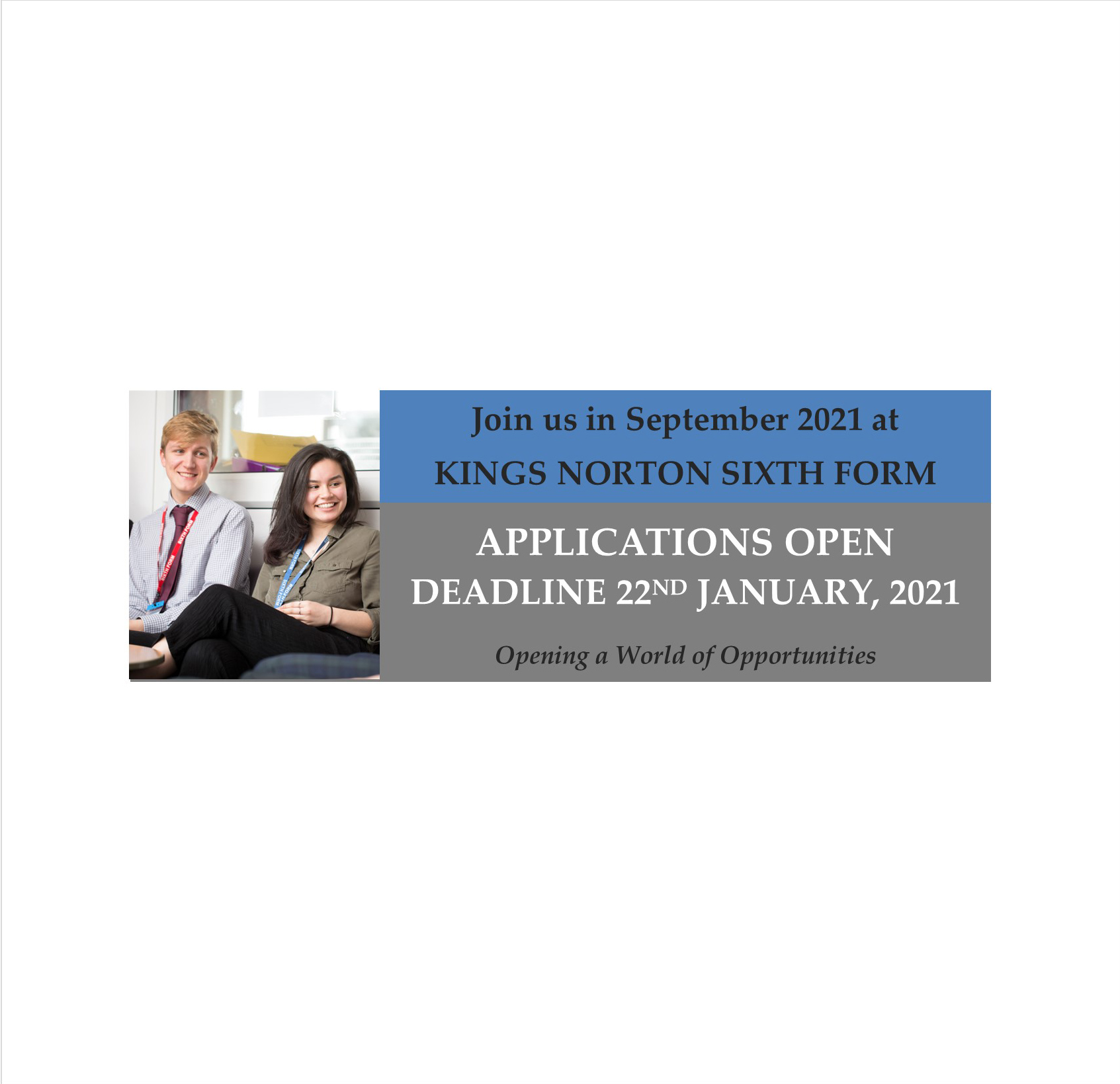 Application 6th Form OPEN Feeder Schools A3 PosterNov 2020 CROPPED