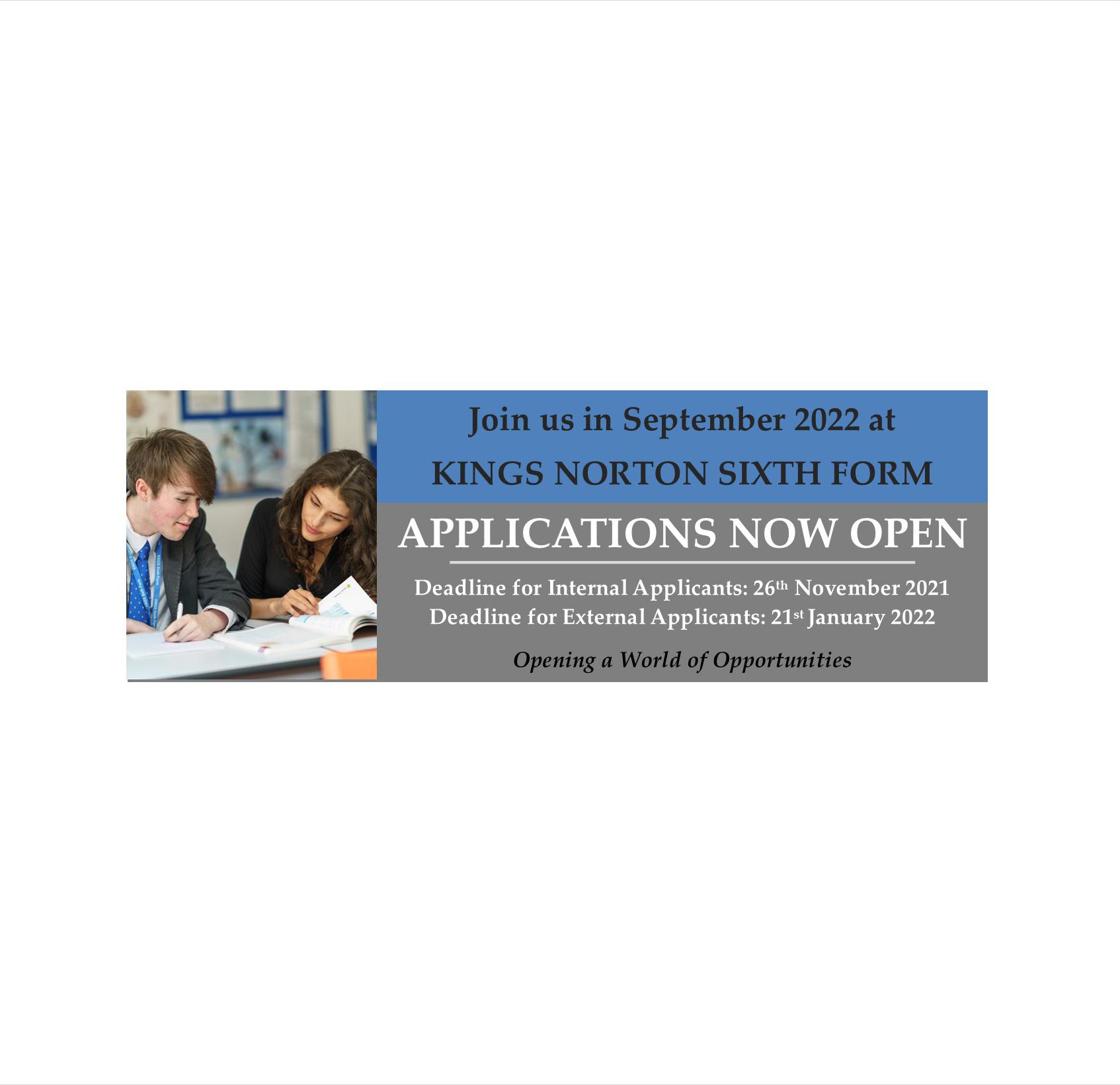 Applications Open Banner Oct 2021 website